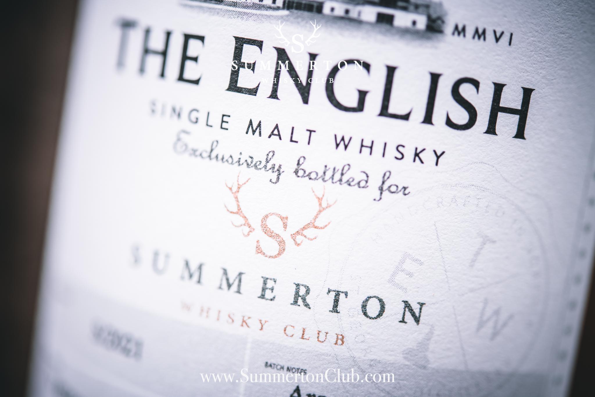 August 2021 – The English Single Malt Exclusive, Summerton Whisky Club
